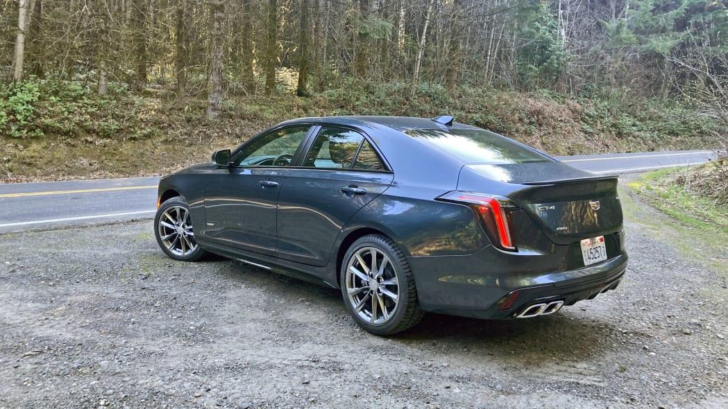 Cadillac CT4-V rear forest