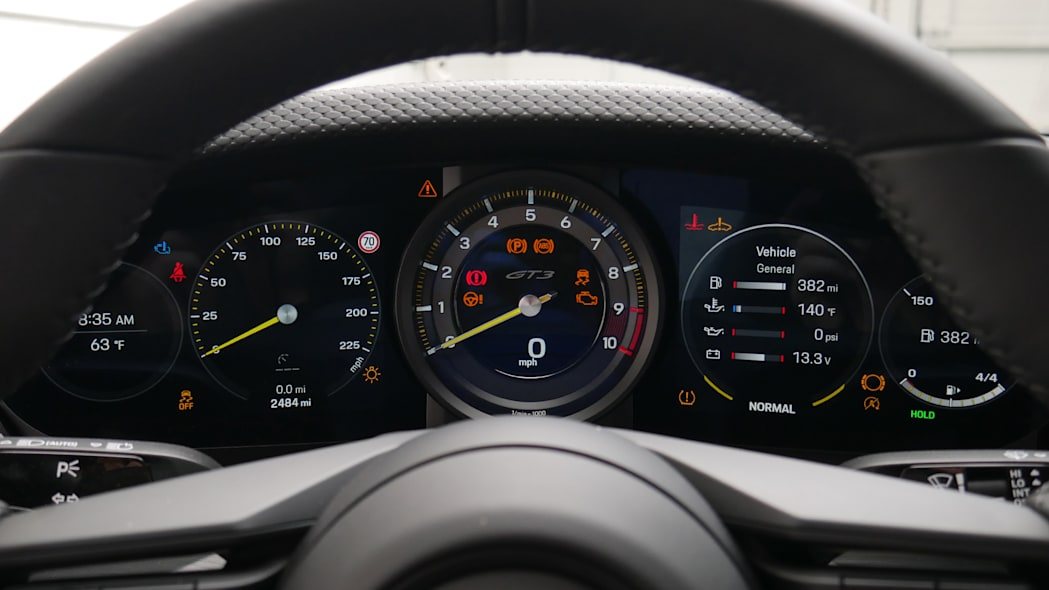2022 Porsche 911 GT3 Touring gauges