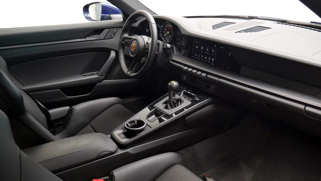2022 Porsche 911 GT3 Touring interior from passenger side