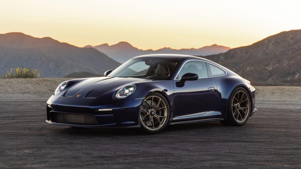 2022 Porsche 911 GT3 Touring front three quarter golden hour