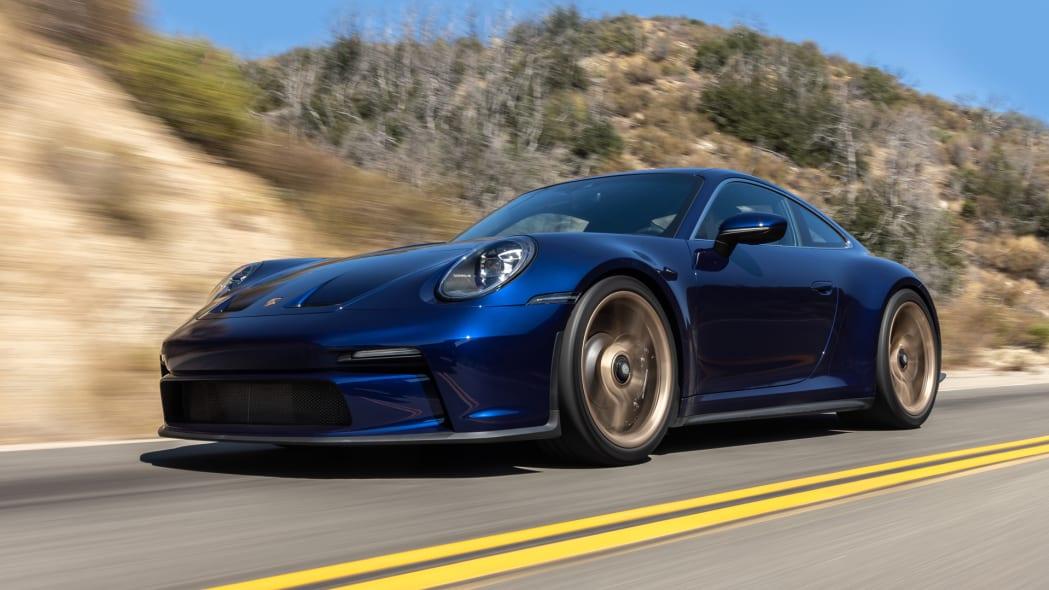 2022 Porsche 911 GT3 Touring action low front three quarter