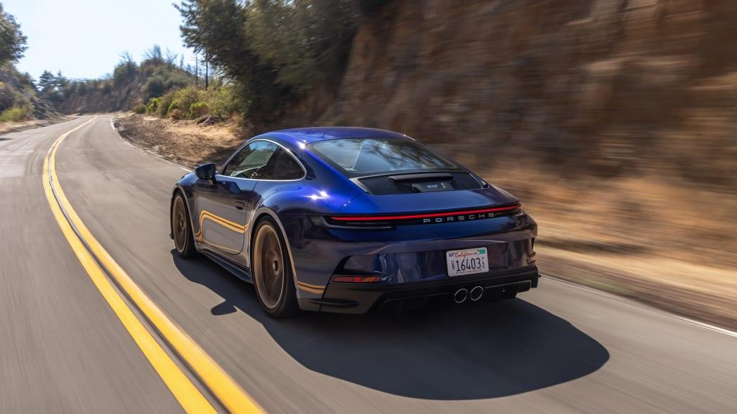2022 Porsche 911 GT3 Touring action rear three quarter