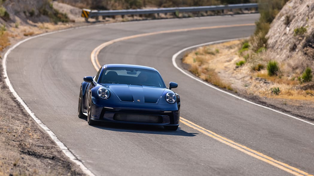 2022 Porsche 911 GT3 Touring action front high after corner