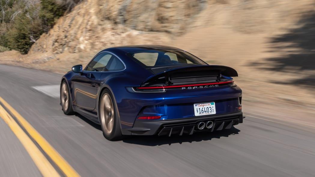 2022 Porsche 911 GT3 Touring action rear spoiler up