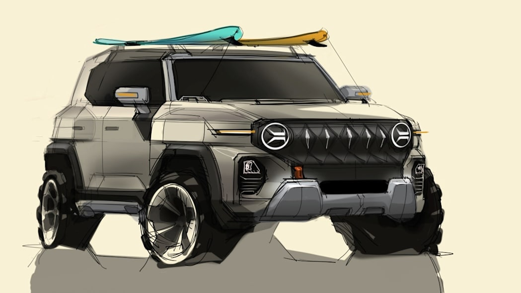 Ssangyong X200 SUV preview sketch