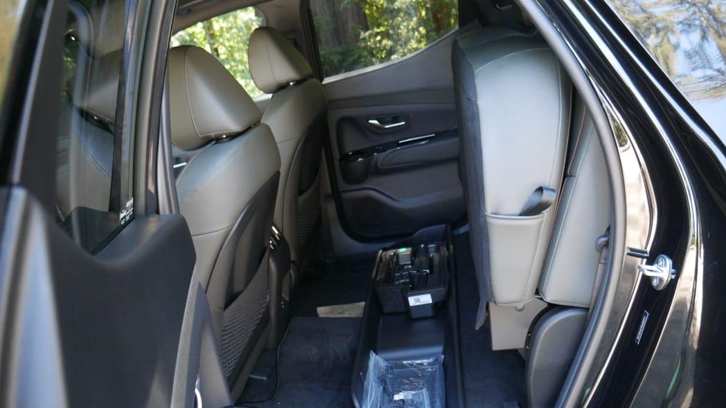2022 Hyundai Santa Cruz back seat flipped up