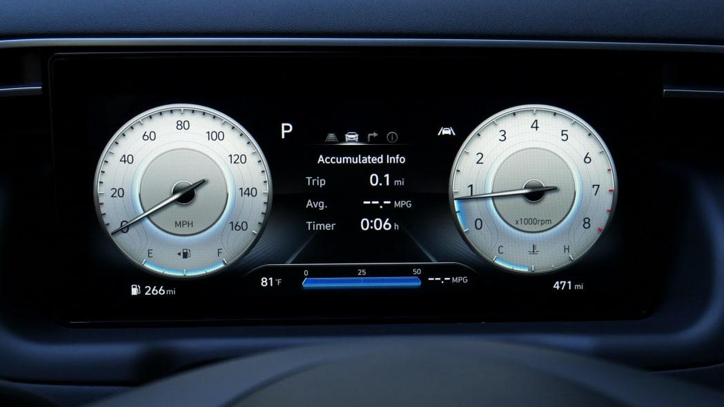 2022 Hyundai Santa Cruz gauges normal