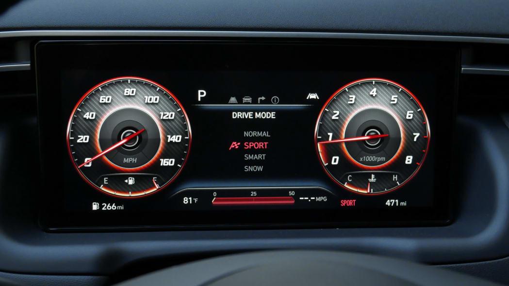 2022 Hyundai Santa Cruz gauges sport