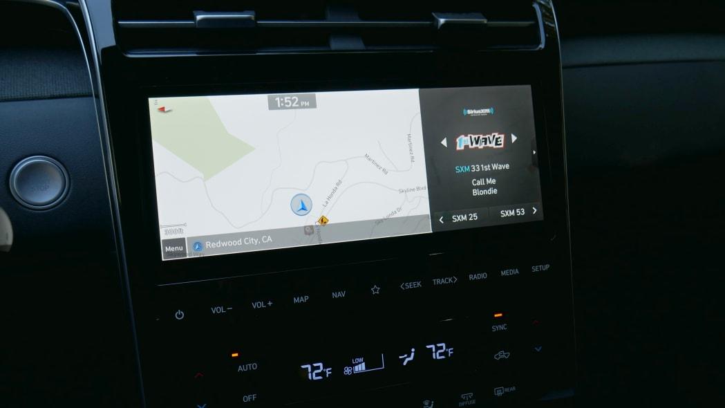 2022 Hyundai Santa Cruz touchscreen map