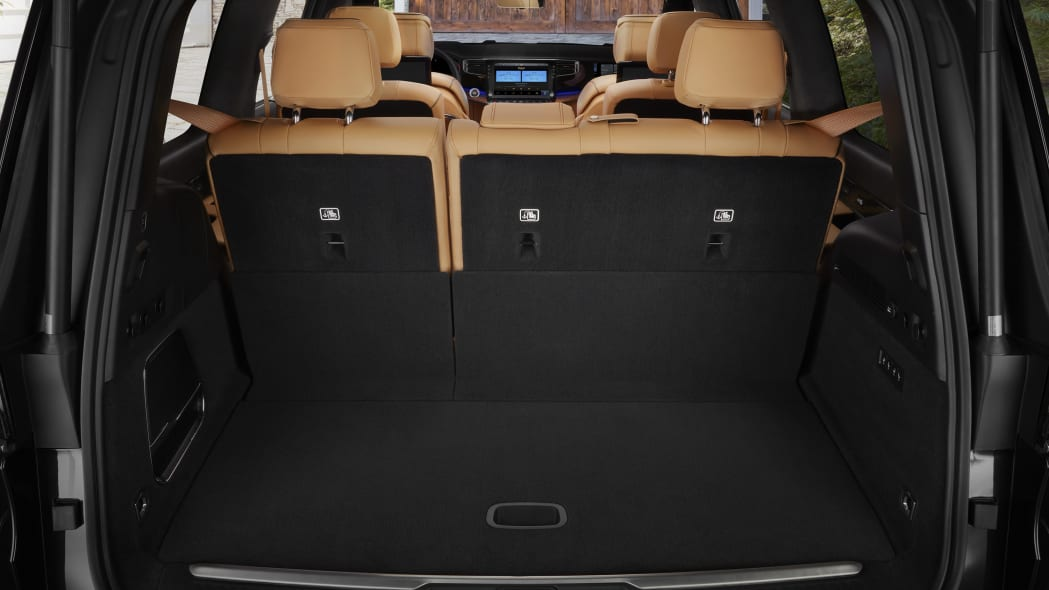 All-new 2022 Grand Wagoneer rear interior cargo space (27.4 cu.