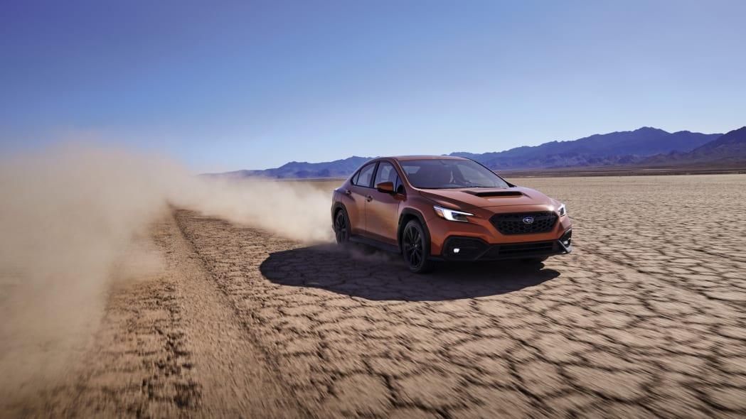 2022 Subaru WRX action dust front
