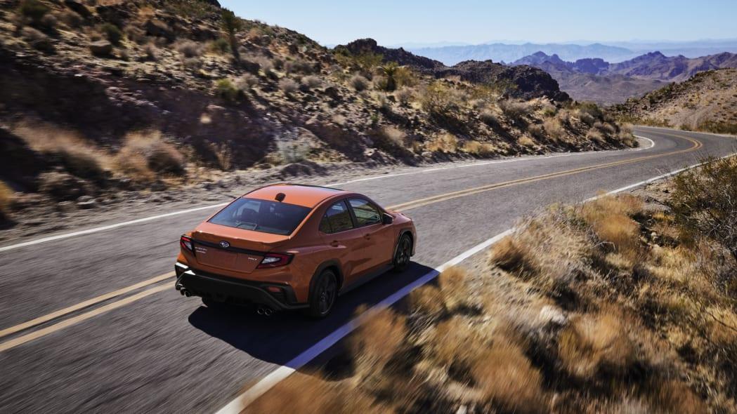 2022 Subaru WRX action rear high