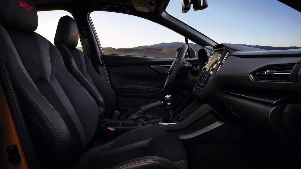 2022 Subaru WRX front interior
