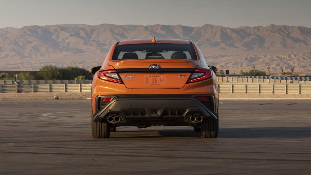 2022 Subaru WRX orange rear