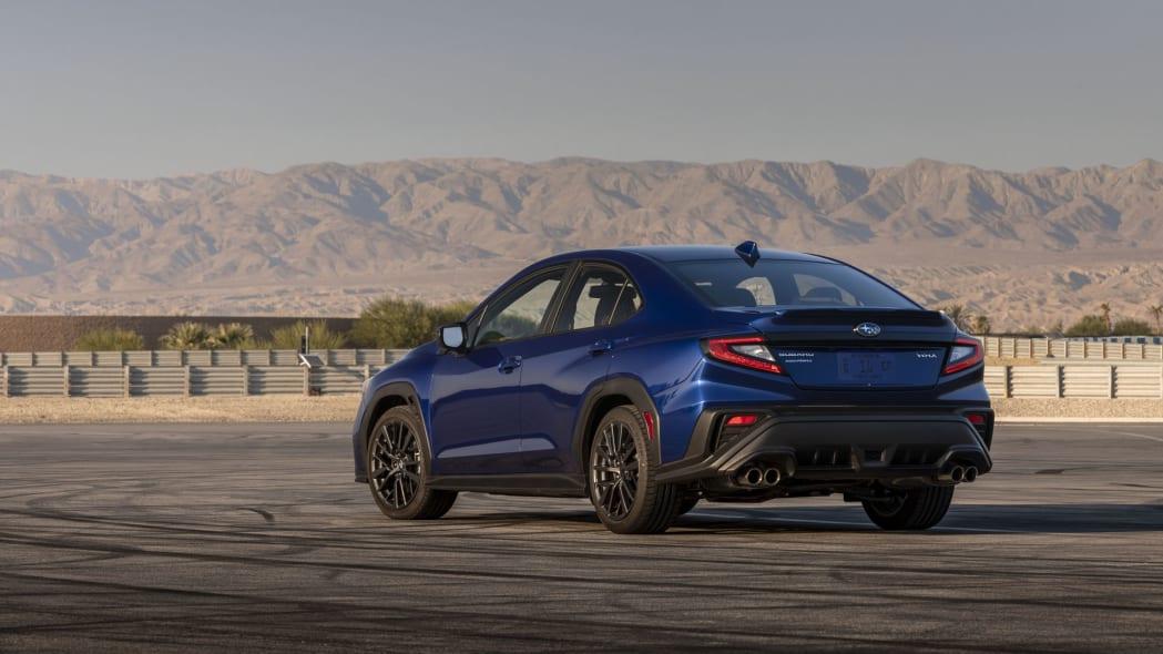 2022 Subaru WRX blue rear 34