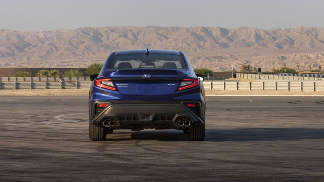 2022 Subaru WRX blue rear