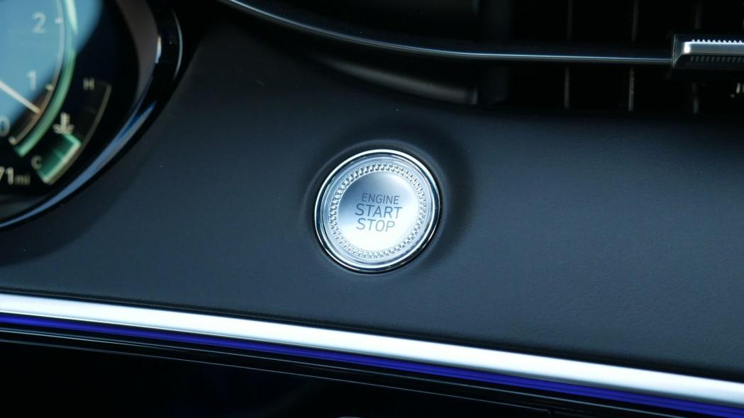 2022 Genesis GV70 start button