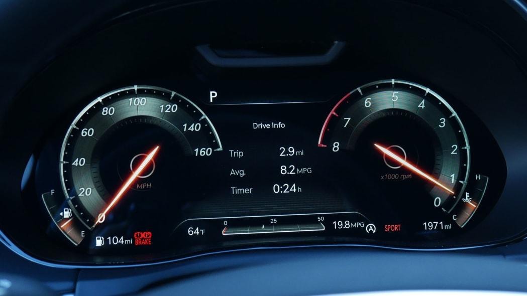 2022 Genesis GV70 gauges sport
