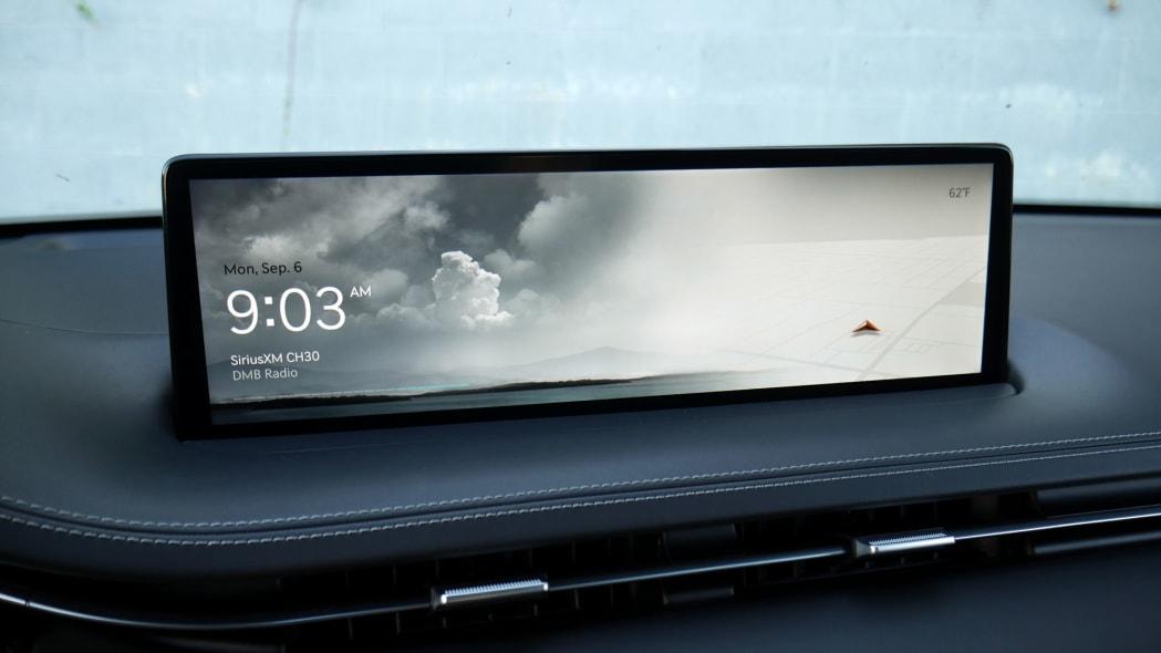 2022 Genesis GV70 infotainment home cloudy