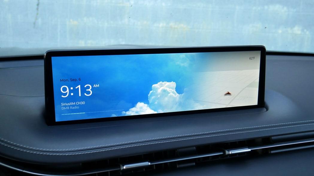 2022 Genesis GV70 infotainment home sunny