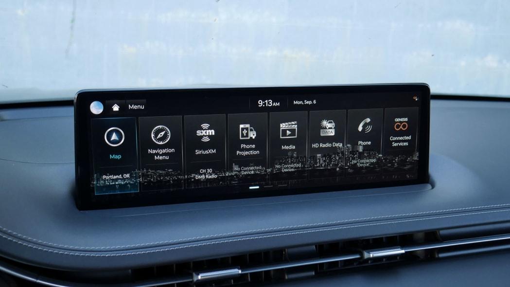 2022 Genesis GV70 infotainment menu