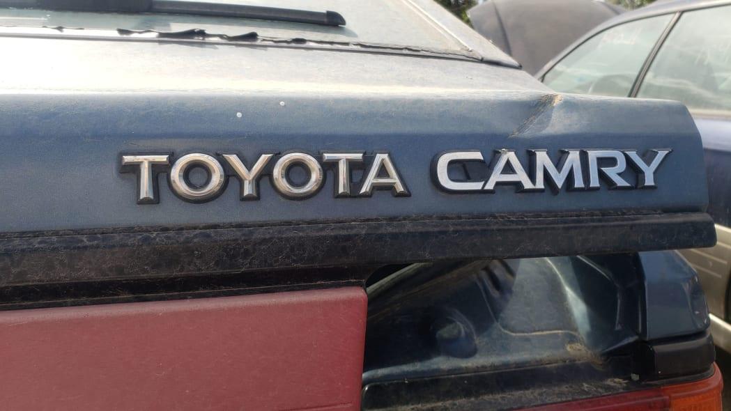 03 - 1986 Toyota Camry Liftback in Colorado junkyard - photograph by Murilee Martin