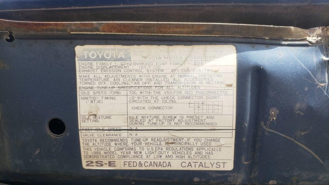 23 - 1986 Toyota Camry Liftback in Colorado junkyard - photograph by Murilee Martin