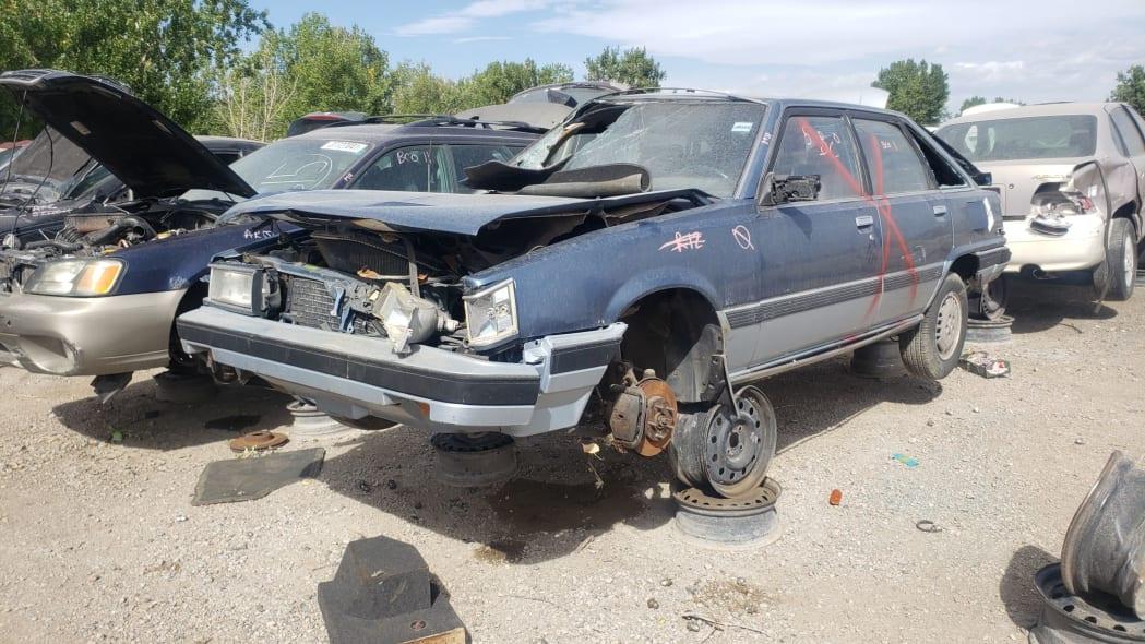 26 - 1986 Toyota Camry Liftback in Colorado junkyard - photograph by Murilee Martin