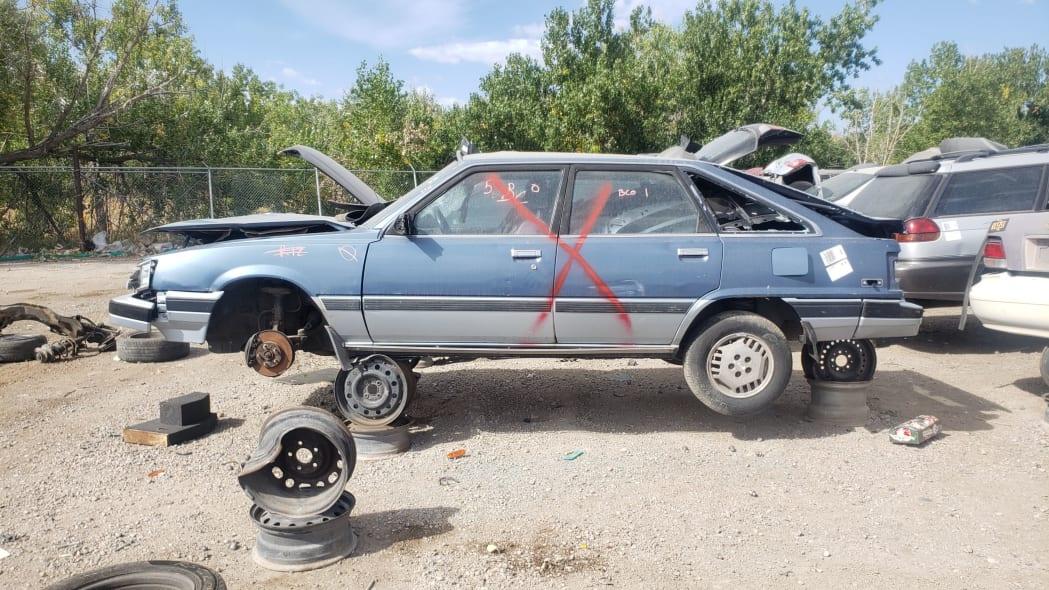 31 - 1986 Toyota Camry Liftback in Colorado junkyard - photograph by Murilee Martin