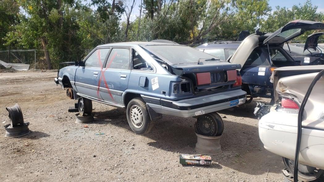 36 - 1986 Toyota Camry Liftback in Colorado junkyard - photograph by Murilee Martin