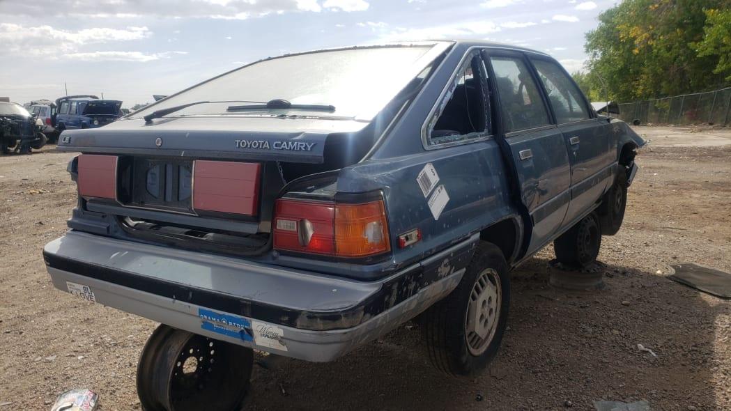 40 - 1986 Toyota Camry Liftback in Colorado junkyard - photograph by Murilee Martin