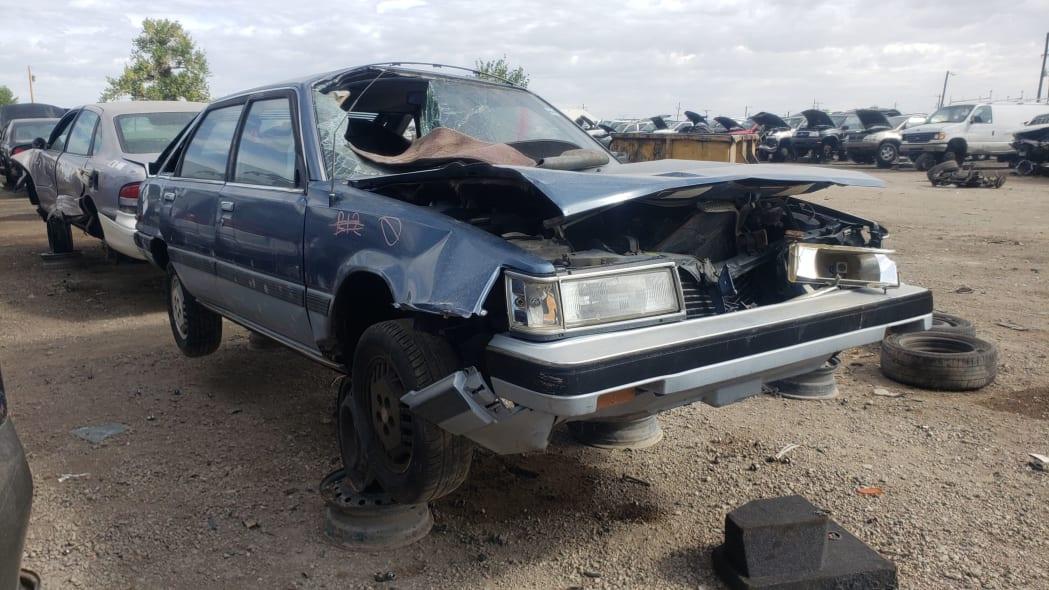 42 - 1986 Toyota Camry Liftback in Colorado junkyard - photograph by Murilee Martin