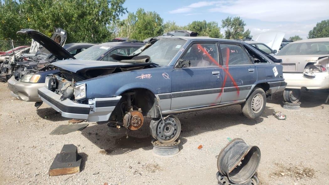 99 - 1986 Toyota Camry Liftback in Colorado junkyard - photograph by Murilee Martin
