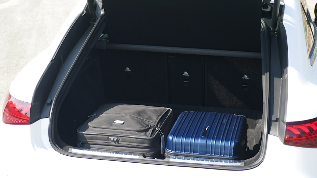2022 Mercedes EQS trunk with bags