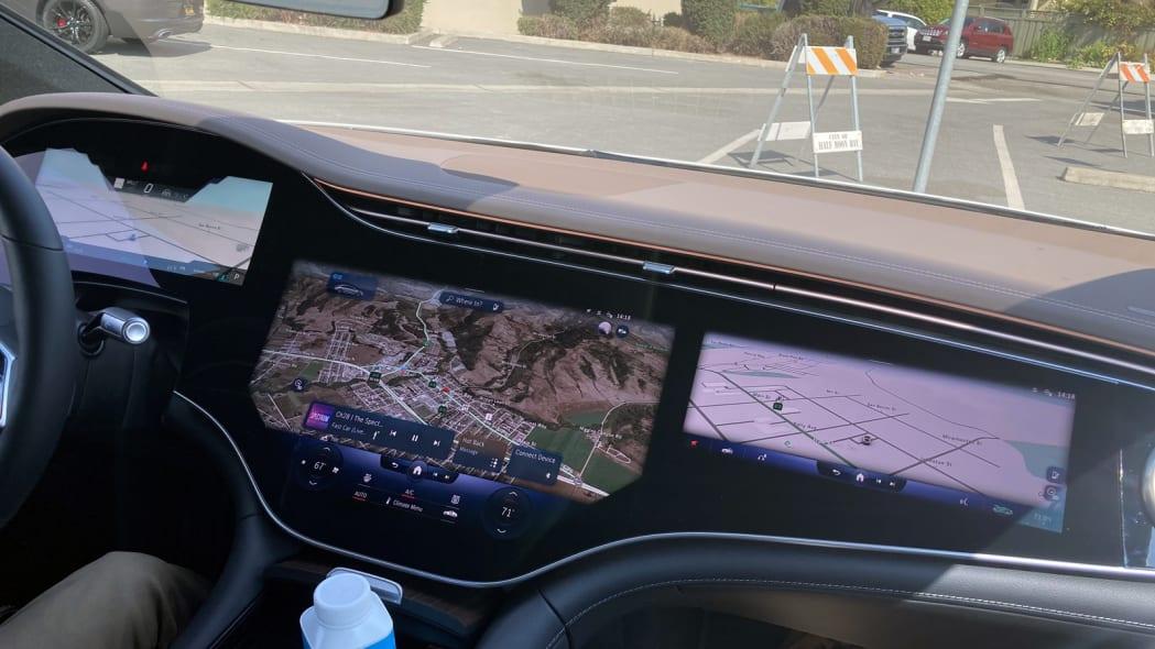2022 Mercedes EQS three navigation screens
