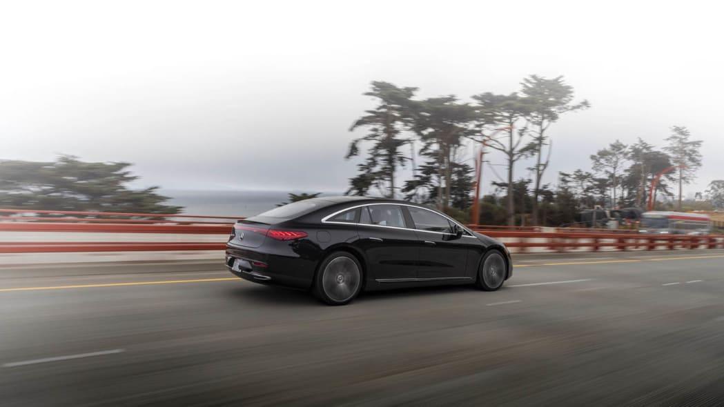 2022 Mercedes EQS 450+ Golden Gate ramp rear