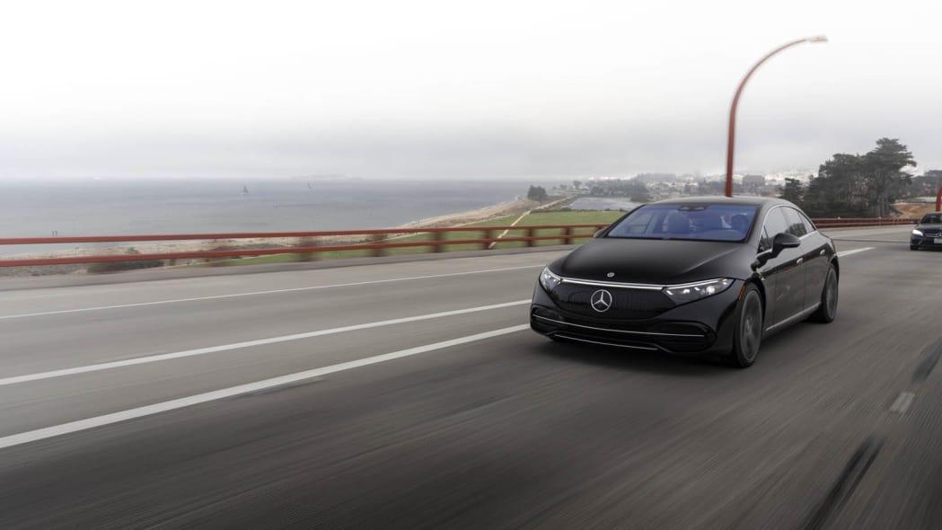 2022 Mercedes EQS 450+ Golden Gate ramp front