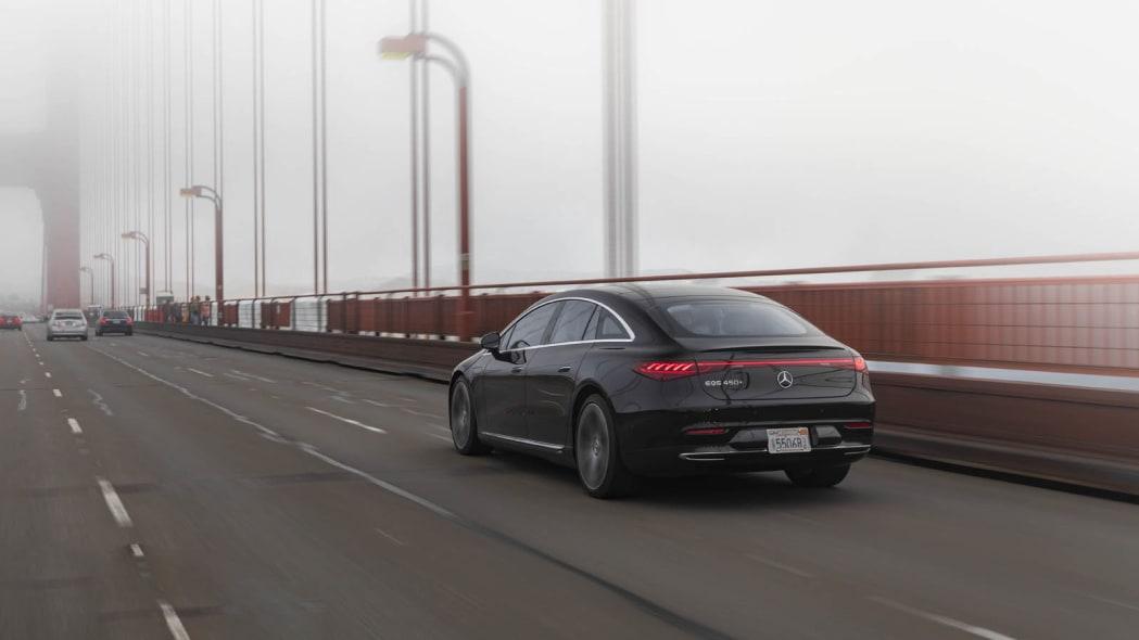 2022 Mercedes EQS 450+ Golden Gate rear fog