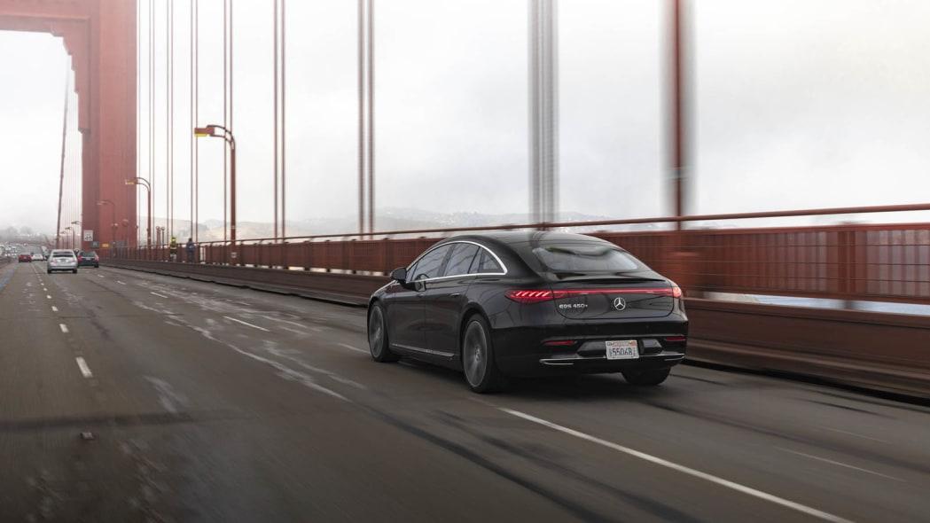 2022 Mercedes EQS 450+ Golden Gate rear