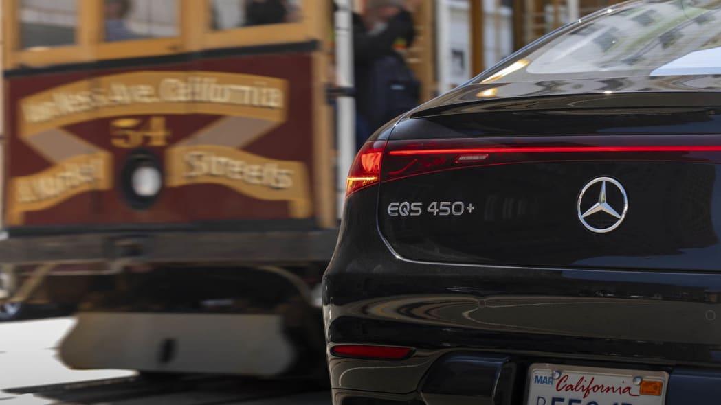 2022 Mercedes EQS 450+ badge