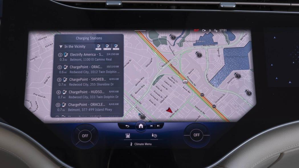 2022 Mercedes EQS 450+ center screen navigation only