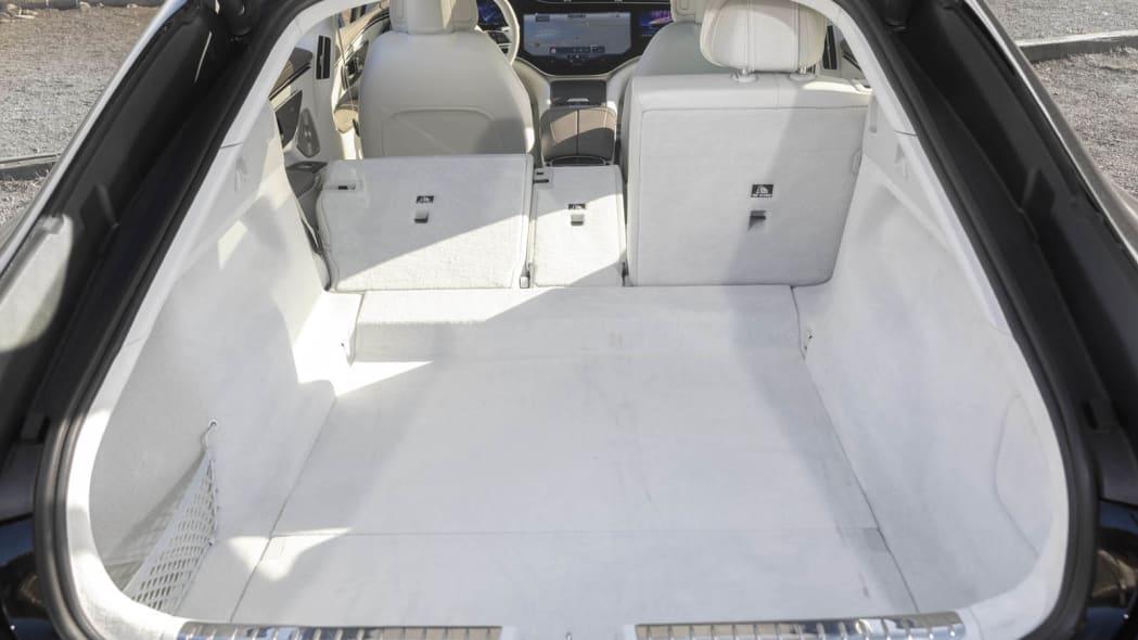 2022 Mercedes EQS 450+ trunk one seat down
