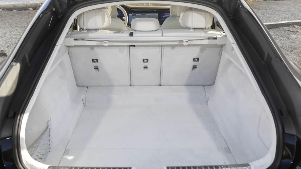 2022 Mercedes EQS 450+ trunk seats up