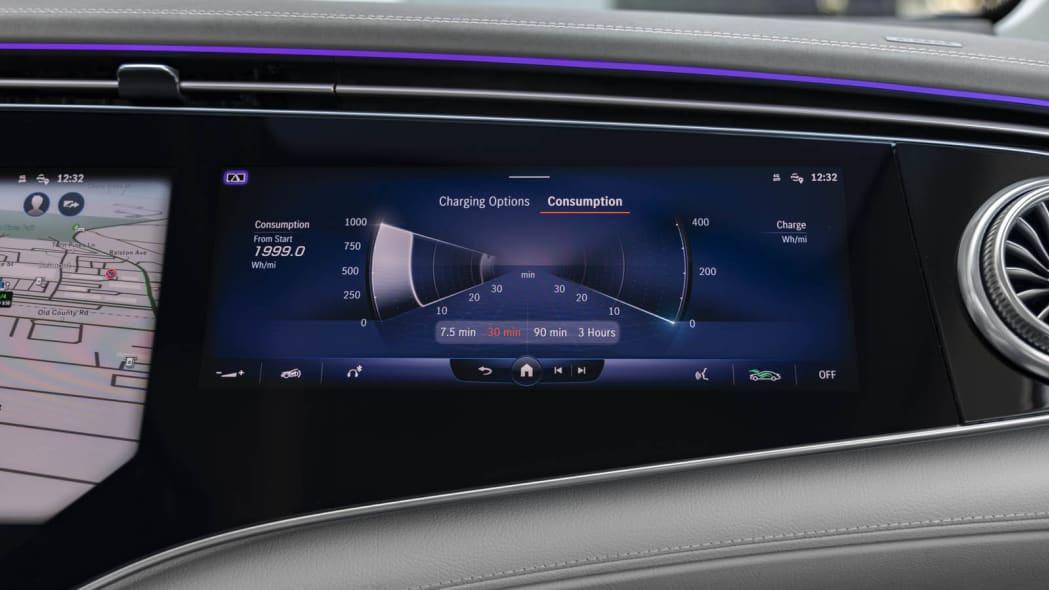 2022 Mercedes EQS 450+ passenger screen charging
