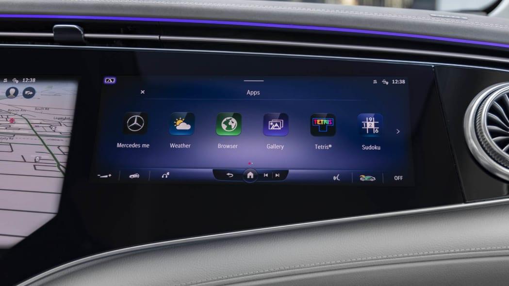 2022 Mercedes EQS 450+ passenger screen options