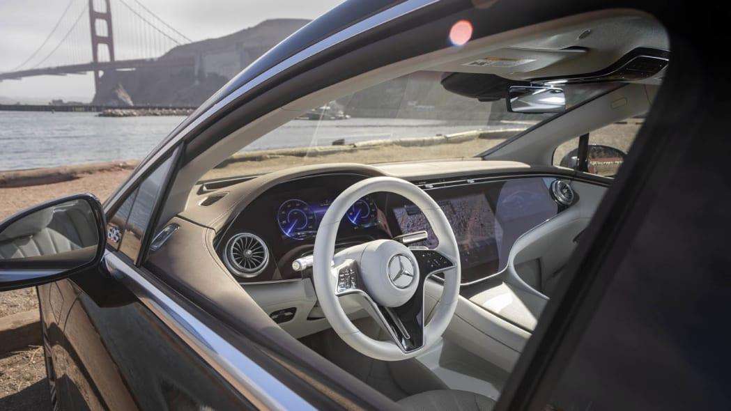 2022 Mercedes EQS 450+ interior from driver side