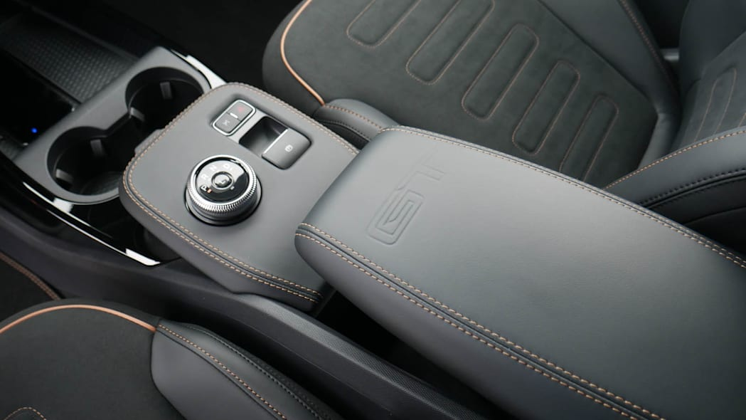 2022 Ford Mustang Mach-E GT center console bronze trim