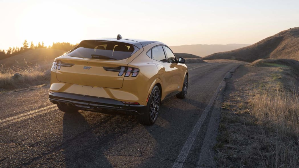 2022 Ford Mustang Mach-E GT action rear