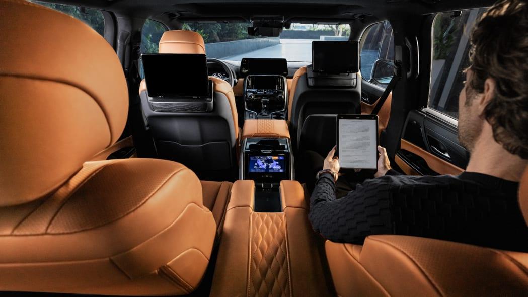 2022 Lexus LX 600 Ultra Luxury interior from back seat