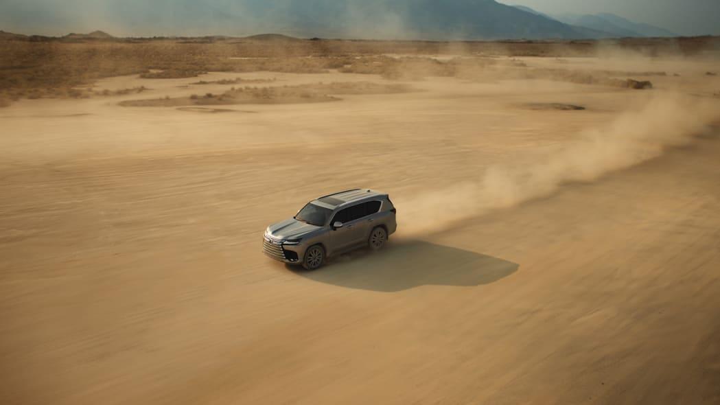 2022 Lexus LX 600 Ultra Luxury action above